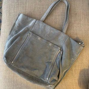 All Saints Suede Gray Shoulder Bag